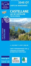 Castellane ; lac de Castillon ; PNR du Verdon ; 3542 OT - Couverture - Format classique