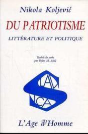 Du Patriotisme - Couverture - Format classique
