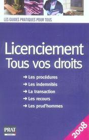 Licenciement : tous vos droits (édition 2008) - Intérieur - Format classique