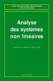 Analyse des systemes non lineaires - Couverture - Format classique