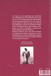 Contes Traditionnels Du Mozambique - 4ème de couverture - Format classique