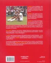 L'Annee Du Tennis 2005 - 4ème de couverture - Format classique