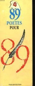 89 Poetes Pour 89 - Couverture - Format classique