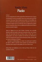 Fado - 4ème de couverture - Format classique