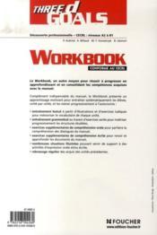 Foucher Langues ; Three D Goals ; Anglais ; 3ème Découverte Professionnelle ; Workbook - Couverture - Format classique