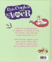 Petits Contes Pour... ; S'Aimer - 4ème de couverture - Format classique