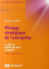 Pilotage stratégique de l'entreprise ; le rôle du tableau de bord prospectif - Intérieur - Format classique
