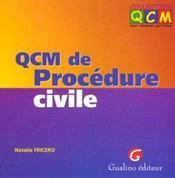Qcm procedure civile - Intérieur - Format classique