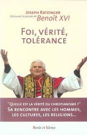 Foi, verite, tolerance - Intérieur - Format classique