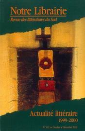 142- actualite litteraire 1999-2000 - Intérieur - Format classique