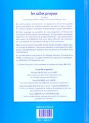 Les salles propres (2e édition) - 4ème de couverture - Format classique