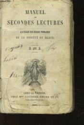 Manuel De Second Lectures A L'Usage Des Ecoles Primaires De La Societe De Marie - Couverture - Format classique