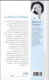 Le fard et le poison - 4ème de couverture - Format classique
