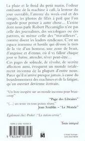 Chronique Des Annees D'Usine - 4ème de couverture - Format classique