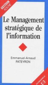 Management strategique de l'information - Couverture - Format classique
