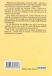Les Sciences Occultes Les Mots Secrets De A A Z - 4ème de couverture - Format classique