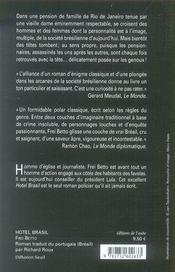 Hotel brasil - 4ème de couverture - Format classique
