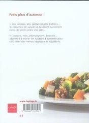 Petits plats d'automne - 4ème de couverture - Format classique