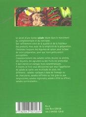 Les salades - 4ème de couverture - Format classique