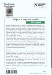 Religions Et Croyances Actuelles - Culture Religieuse T4 - 4ème de couverture - Format classique