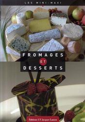 Fromages et desserts - Intérieur - Format classique