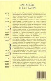 L'intendance de la creation - 4ème de couverture - Format classique