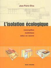 Isolation ecologique (l') - Intérieur - Format classique