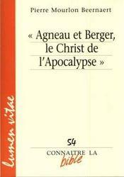 «agneau et berger, le christ de l'apocalypse» - Couverture - Format classique