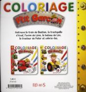 Coloriage jaune - 4ème de couverture - Format classique