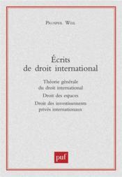 Écrits de droit international - Couverture - Format classique