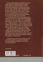 Écrits de droit international - 4ème de couverture - Format classique