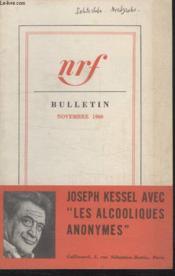 Bulletin Novembre 1960 N°154. - Couverture - Format classique