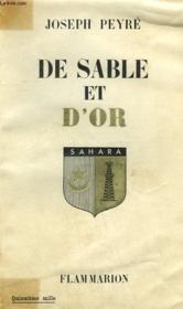 De Sable Et D'Or. - Couverture - Format classique