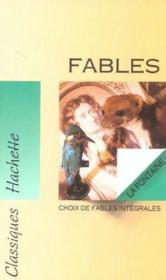 Fables. La Fontaine - Couverture - Format classique