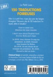 Petit livre de 150 traductions foireuses - 4ème de couverture - Format classique