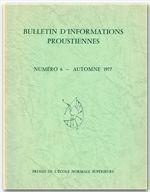 Bulletin D'Informations Proustiennes T.20 - Couverture - Format classique
