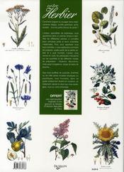 Votre herbier - 4ème de couverture - Format classique