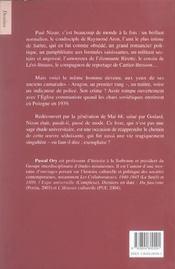 Nizan - 4ème de couverture - Format classique