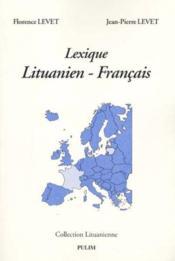 Lexique Lituanien-Francais - Couverture - Format classique