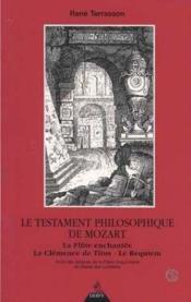Testament Philosophique De Mozart - Couverture - Format classique