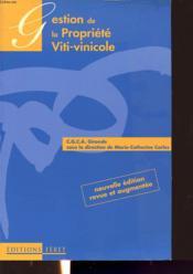 Gestion de la propriete viti-vinicole - Couverture - Format classique