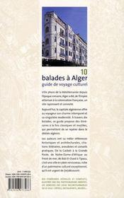 10 balades à Alger - 4ème de couverture - Format classique