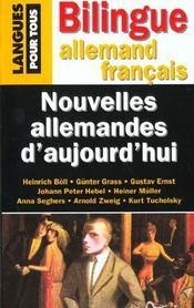 Nouvelles Allemandes D'Aujourd Hui - Intérieur - Format classique
