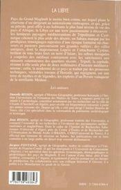 La Libye T.2 ; Itiniraires ; A La Rencontre D'Un Pays - 4ème de couverture - Format classique