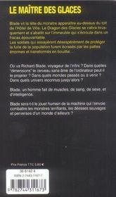 Blade t.10 ; le maître des glaces - 4ème de couverture - Format classique