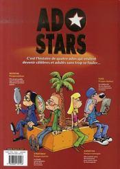 Adostars t.1 ; presque célèbres - 4ème de couverture - Format classique