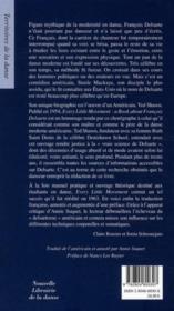 Chaque petit mouvement ; à propos de François Delsarte - 4ème de couverture - Format classique