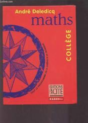 Mathematiques College - Couverture - Format classique