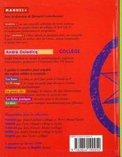 Mathematiques College - 4ème de couverture - Format classique