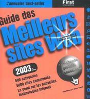 Guide Des Meilleur Sites Web ; Edition 2003 - Intérieur - Format classique
